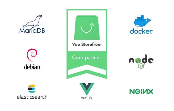 Logo Vue Storefront Core Partner