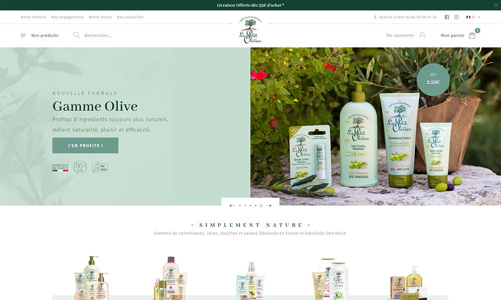 Homepage PWA Le Petit Olivier